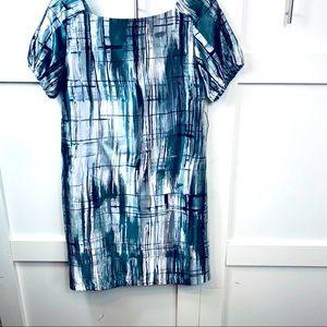 Chrome colored Short sleeve dress